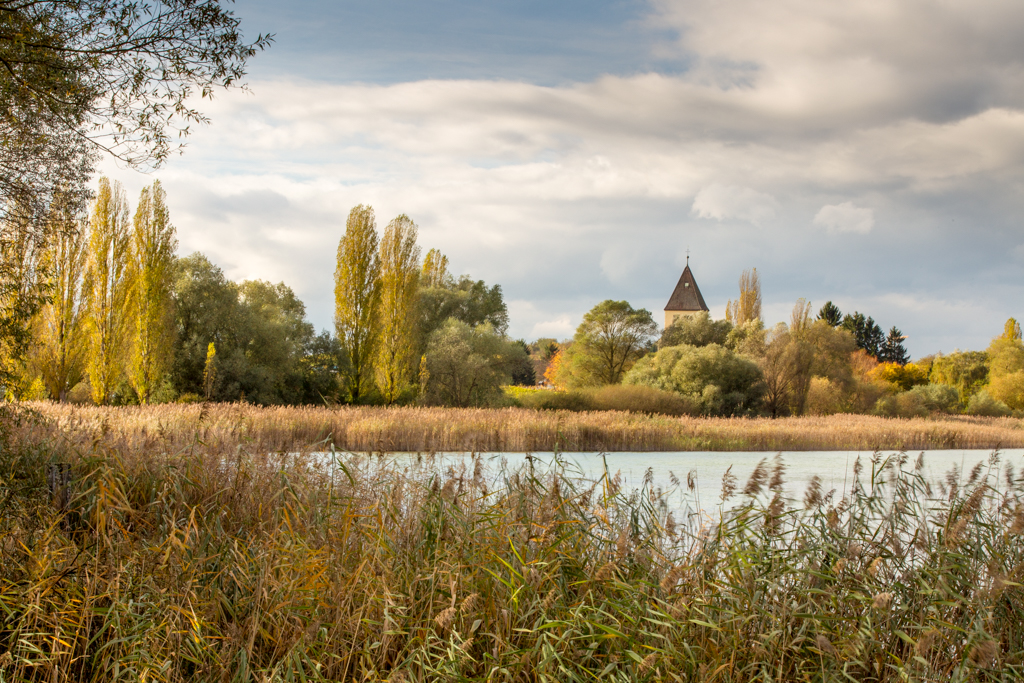bodensee, reichenau, untersee, insel, bilder, fotos, lake constance, St. Georg, Herbst, Welterbe, Unesco