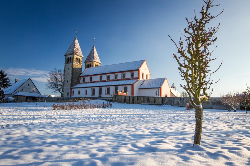 bodensee, reichenau, untersee, insel, bilder, fotos, lake constance, Winter, St. Peter und Paul, Welterbe, Unesco